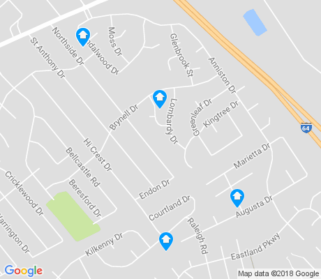map of Bryan Station apartments for rent