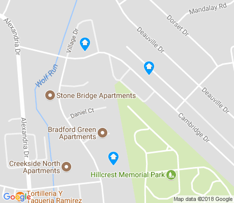 map of Cardinal Valley apartments for rent