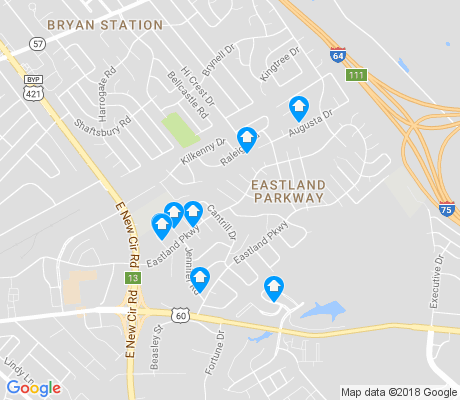 map of Eastland Parkway apartments for rent