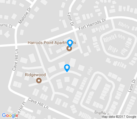 map of Harrods Hill apartments for rent