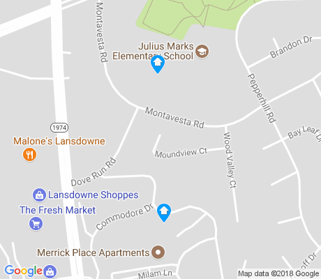 map of Lansdowne Merrick apartments for rent