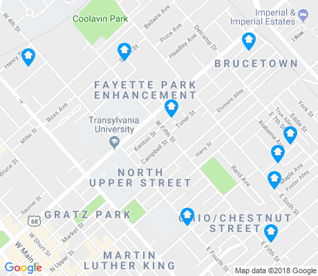 map of North Upper Street apartments for rent