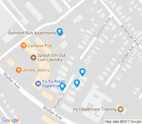 map of Picadome apartments for rent