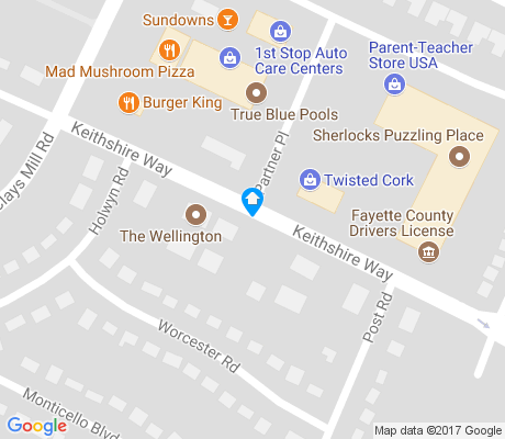 map of Stonewall Community apartments for rent