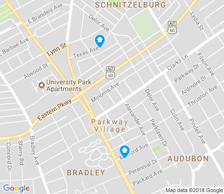 map of Audubon apartments for rent