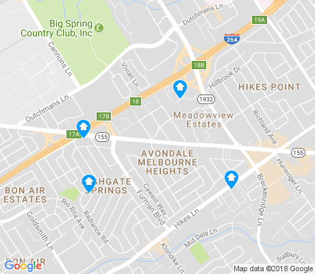 map of Avondale Melbourne Heights apartments for rent