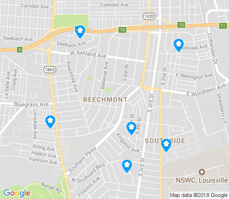 map of Beechmont apartments for rent