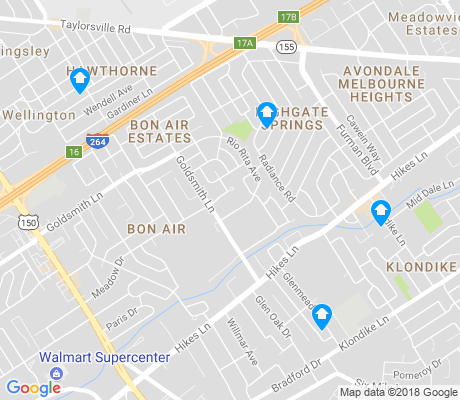 map of Bon Air apartments for rent