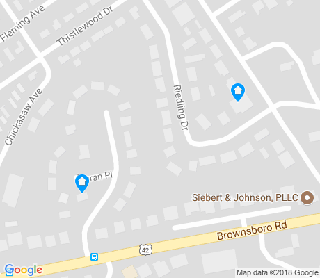 map of Brownsboro Zorn apartments for rent
