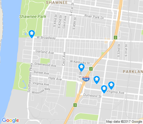 map of Chickasaw apartments for rent