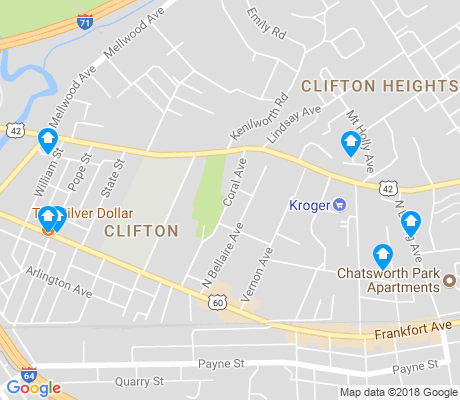 map of Clifton apartments for rent
