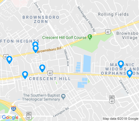 map of Crescent Hill apartments for rent