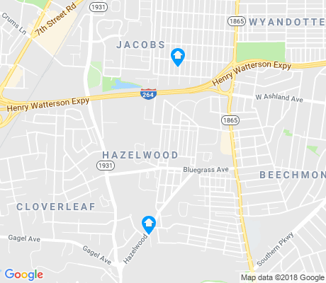 map of Hazelwood apartments for rent