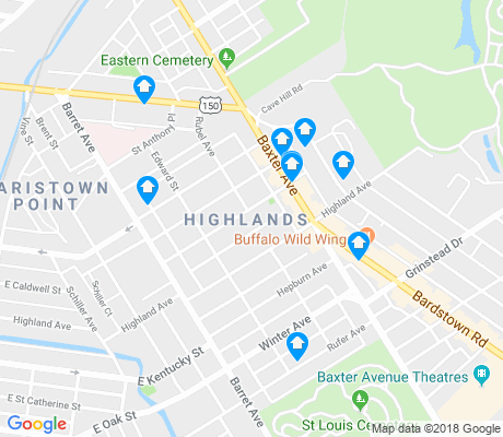 map of Highlands apartments for rent