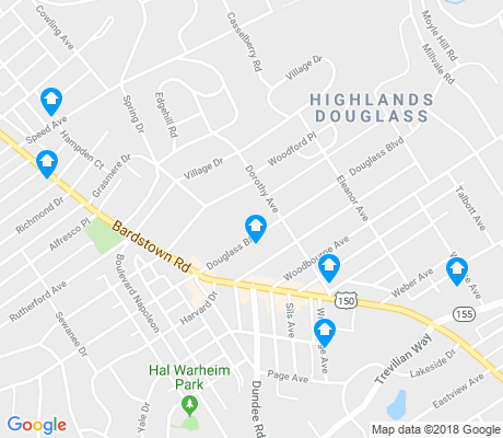 map of Highlands Douglass apartments for rent
