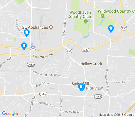 map of Highview apartments for rent