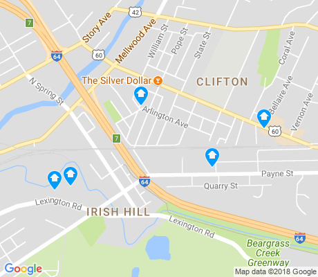 map of Irish Hill apartments for rent