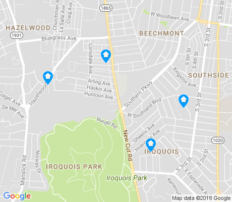 map of Iroquois apartments for rent