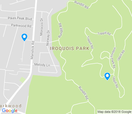 map of Iroquois Park apartments for rent