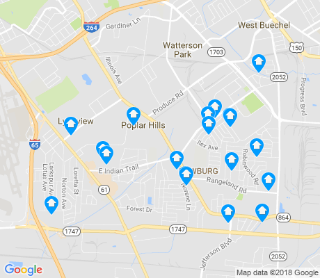 map of Newburg apartments for rent
