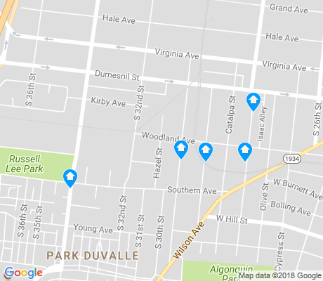 map of Park Duvalle apartments for rent
