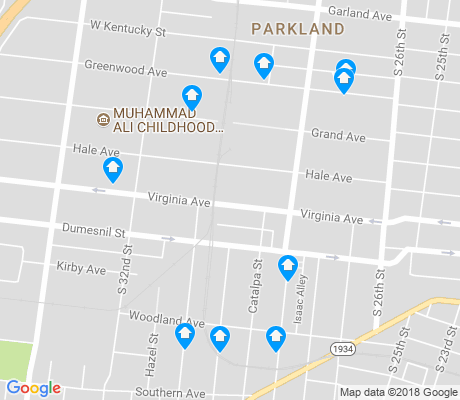 map of Parkland apartments for rent