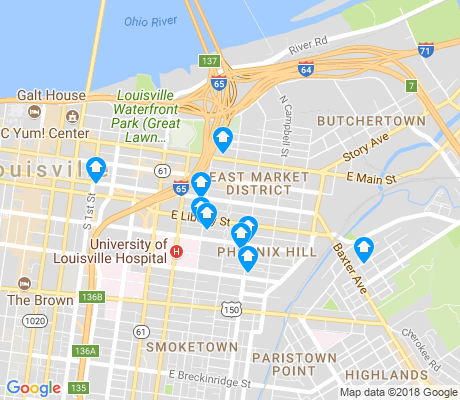 map of Phoenix Hill apartments for rent