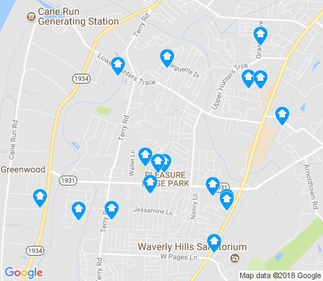 map of Pleasure Ridge Park apartments for rent