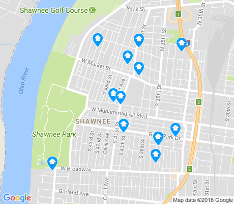 map of Shawnee apartments for rent