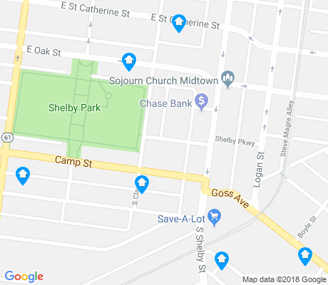 map of Shelby Park apartments for rent