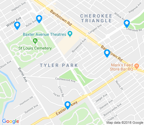 map of Tyler Park apartments for rent