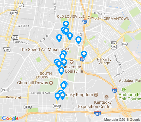 map of University apartments for rent