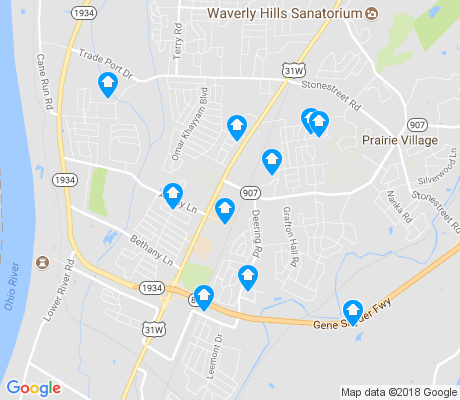 map of Valley Station apartments for rent