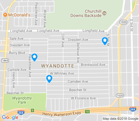 map of Wyandotte apartments for rent