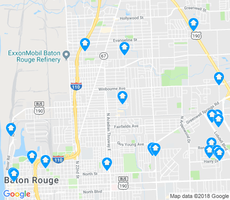 map of Mid City North apartments for rent