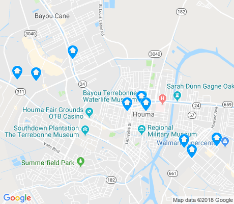 map of Houma apartments for rent