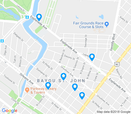 map of Bayou St. John apartments for rent