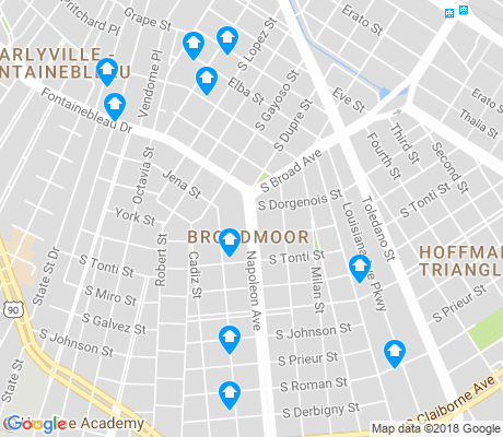 map of Broadmoor apartments for rent