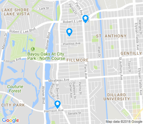 map of Fillmore apartments for rent