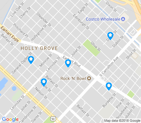 map of Holly Grove apartments for rent