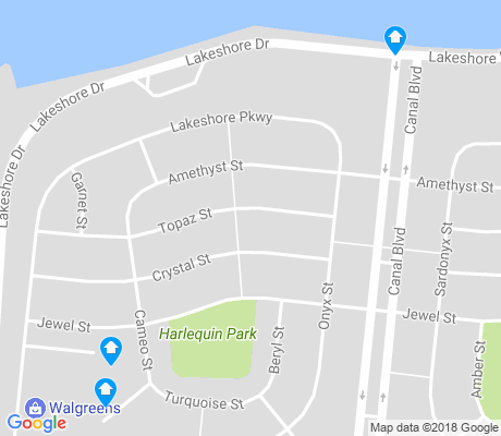 map of Lake Shore - Lake Vista apartments for rent