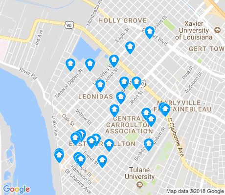 map of Leonidas apartments for rent
