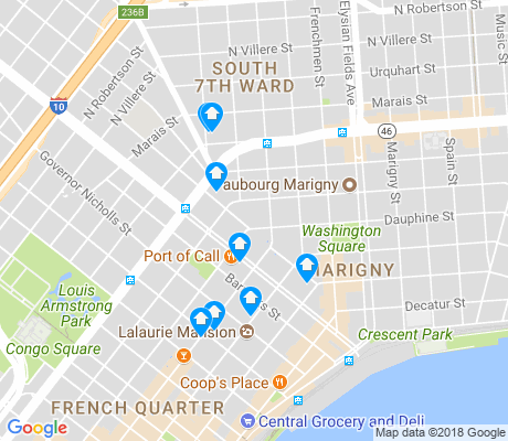 map of Marigny apartments for rent