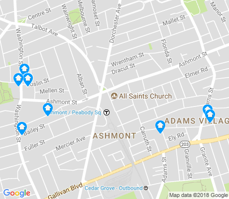 map of Ashmont apartments for rent