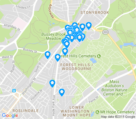 map of Forest Hills - Woodbourne apartments for rent