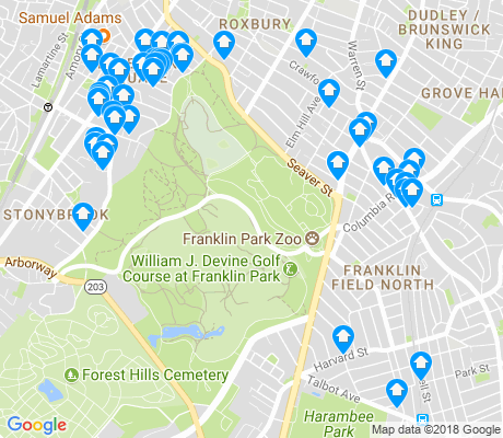 map of Franklin Field North apartments for rent
