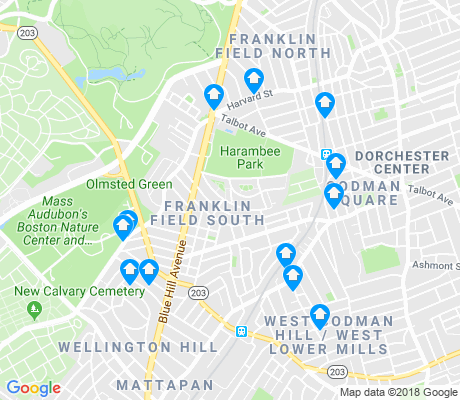 map of Franklin Field South apartments for rent
