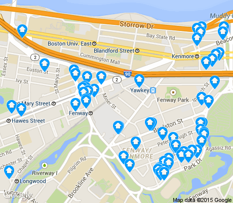 map of Kenmore apartments for rent