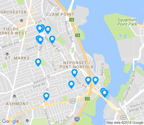 map of Neponset - Port Norfolk apartments for rent