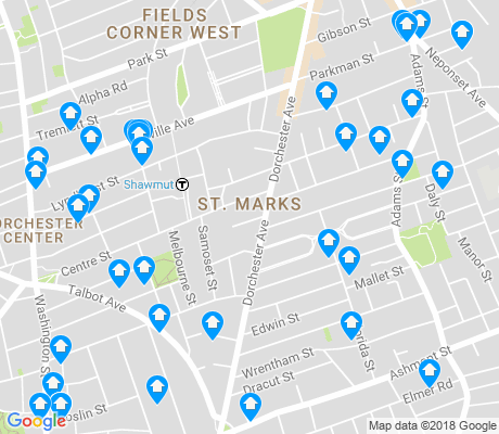 map of St. Marks apartments for rent